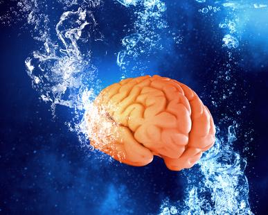Brain under water