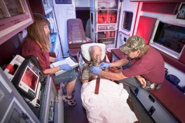 EMTs in an Ambulance